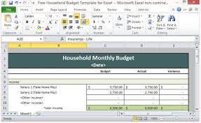 free downloadable budget software free household budget template for excel