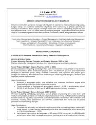 Resume Objective For Project Manager Job Resume Construction Project Manager 24 Objective For Foreman 18