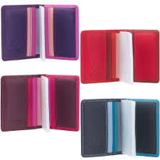 visconti women s gift boxed leather credit card holder rb44