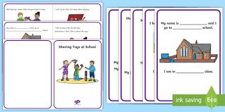 Sharing Toys at School Social Situation - social story, sharing ...