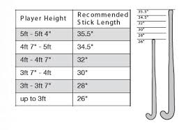 Stick Size Chart Size Guide Grays Hockey South Africa
