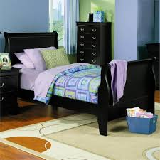 Louis Bedroom Furniture Louis Philippe Sleigh Bed Black