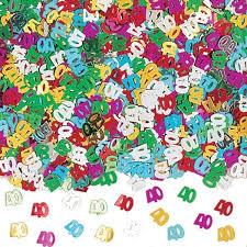 Confettis de table anniversaire 40 ans - Achat / Vente confettis ...