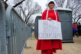 why they ed a photo essay from the women s in washington it s from the handmaid s tale i feel like the text is very relevant to what s going on in our society right now