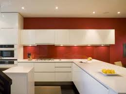 contemporary kitchen colors. Red And White Contemporary Kitchen Colors