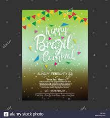 Web Design Sample Text Happy Brazilian Carnival Day Multicolor Carnival Brochure