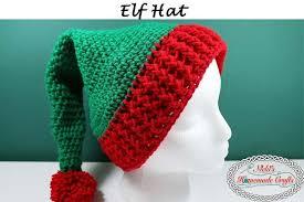 Elf Hat Pattern Amazing Elf Hat With PomPom Free Crochet Pattern Nicki's Homemade Crafts