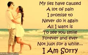 I am sorry message to girlfriend from boyfriend