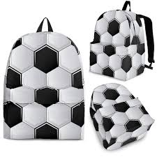 Soccer Ball Pattern Impressive Soccer Ball Pattern Backpack Shop With Cre