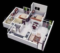 3d small 2 bedroom house plans homeca