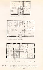 plans of 1 2 and 3 bedroom detached residences