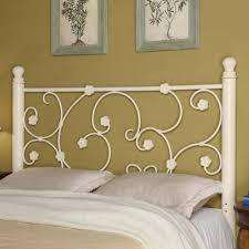 white metal queen bed. Contemporary Queen Coaster Iron Beds And Headboards FullQueen White Metal Headboard With  Elegant Vine Pattern  Fine Furniture With Queen Bed U