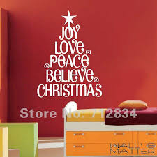 decorative christmas wall art stickers