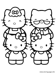 hello kitty family coloring pages printable