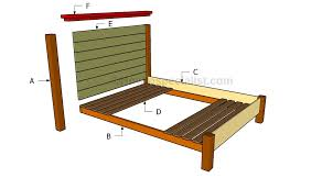 building a queen size bed frame