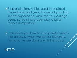 proper mla citations and works cited intro  using quotes in an  3 intro