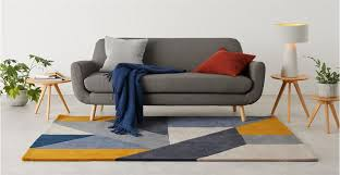 a colourful wool rug with geometric pattern