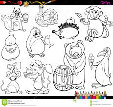 Small Picture Animals And Food Coloring Page Stock Vector Image 53182870