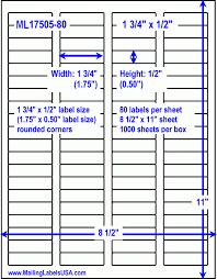 80 Labels Per Sheet Template Labels 80 Per Sheet Yamanstartflyjobsco 14895620000002 Avery