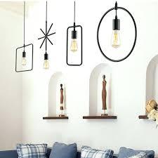 restaurant kitchen lighting. Wire Pendant Light Modern Brief Hanging Metal Lamps Geometric Lighting Bar Restaurant Kitchen Lights