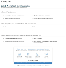 quiz worksheet anti federalists com print anti federalists definition views leaders worksheet