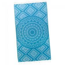 beach towel designs. Blue Aztec Tribal Turkish Beach Towel Designs