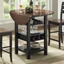 wine rack bar table. Bernards Ridgewood Drop Leaf Pub Table - Item Number: 5918 Wine Rack Bar