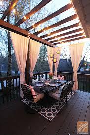 ideas decorate. deck decorating ideas pergola lights and cement planters decorate