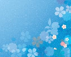Spring Powerpoint Background Blue Flowers Spring Backgrounds For Powerpoint Flower Ppt