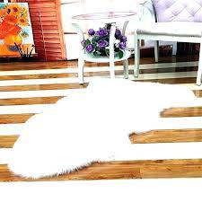 faux fur area rugs rug small sheepskin canada pink f