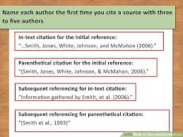 Apa Quote Citation Cool How To Use Internal Citations With Pictures WikiHow