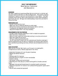 Auto Technician Job Description Best Automotive Technician Resume