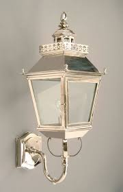 château polished nickel replica victorian outdoor wall light