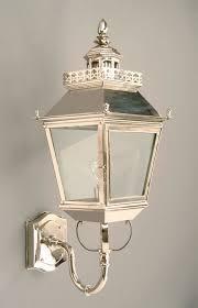 cau polished nickel replica victorian outdoor wall light