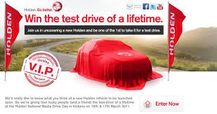 holden new car releaseWin the Test Drive of a Lifetime VIP Guest at Holdens Next Car