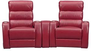 home theater leather recliner. bravo 3-piece power reclining home theater sectional - red by one80 leather recliner t