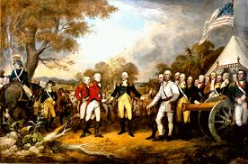 surrender of general burgoyne john trumbull painting this image maintained in the rotunda of the us capitol washington d c