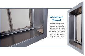aluminum wall tunnel for a plexidor wall installation