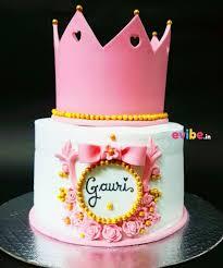 Order Best Princess Crown Theme Cake Online Birthday Cake In Delhi