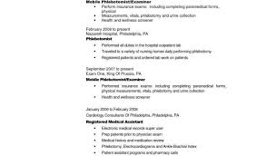 Free Printable Resume Samples With Entry Level Phlebotomy Resume