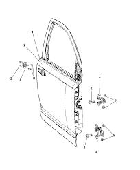 2014 dodge journey front door shell hinges diagram i2303504