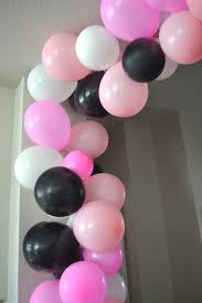 diy balloon arch without helium pink black and white balloon arch balloon
