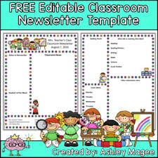 Free Teacher Newsletter Templates Free Editable Teacher Newsletter Template By Mrs Magee Tpt