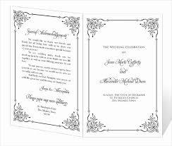 Free Church Program Template Elegant 67 Wedding Program