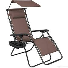 best folding zero gravity lounge chair w canopy cup holder brown under 34 18 dhgate com