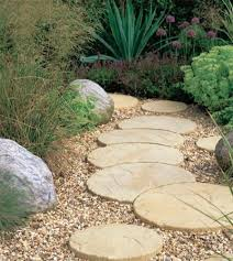garden stepping stones side garden