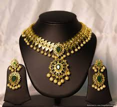 imitation uncut diamond necklace by chaahat