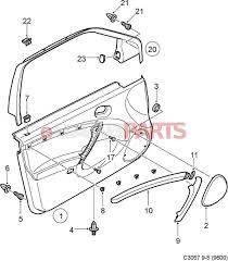 Interior car door parts diagram 12756594 saab decor strip genuine from esaabparts electrical wiring diagram