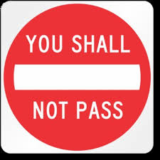 Second Life Marketplace Funny Sign You Shall Not Pass