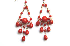 red and gold chandelier earrings dsc05939 photos